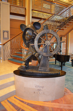 Disney Magic Cruise Ship Atrium Mickey Statue